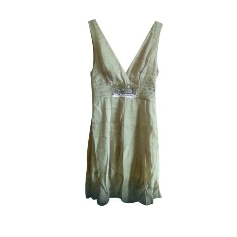 Robe mi-longue MAX MARA Doré, bronze, cuivre