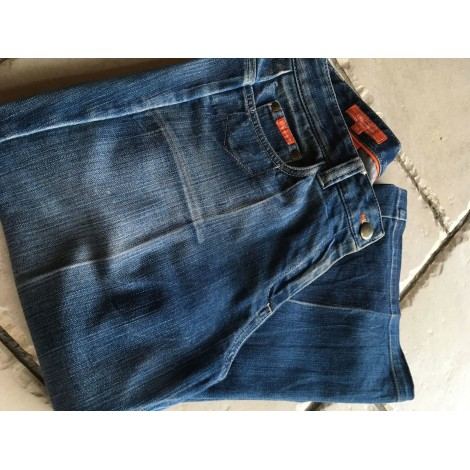 Jeans droit FAÇONNABLE Bleu, bleu marine, bleu turquoise