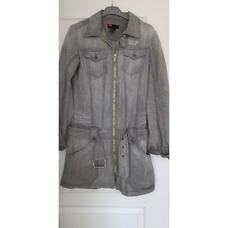 Manteau en jean DIESEL Gris, anthracite