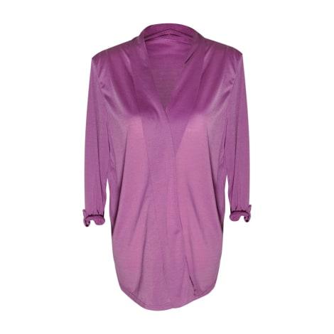 Gilet, cardigan ANNE DE LANCAY Violet, mauve, lavande