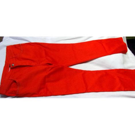 Pantalon droit YOULINE Orange