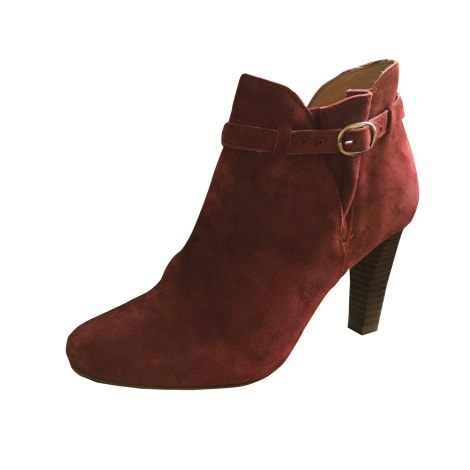 Bottines & low boots à talons SÉZANE Rouge, bordeaux