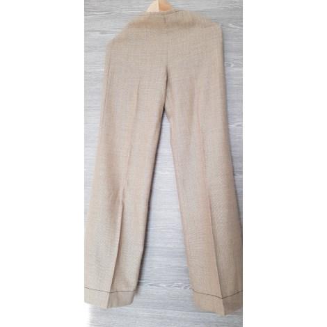 Pantalon large MANGO Doré, bronze, cuivre