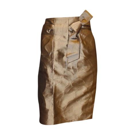 Jupe mi-longue ESCADA Doré, bronze, cuivre
