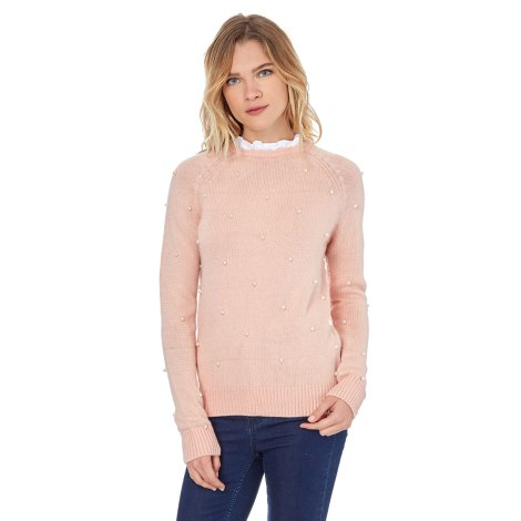 Pull WILLIAM DE FAYE Rose, fuschia, vieux rose