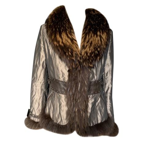 Manteau en fourrure GIORGIO Kaki