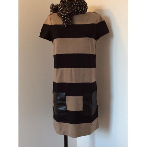 Robe tunique SINÉQUANONE Beige/noir