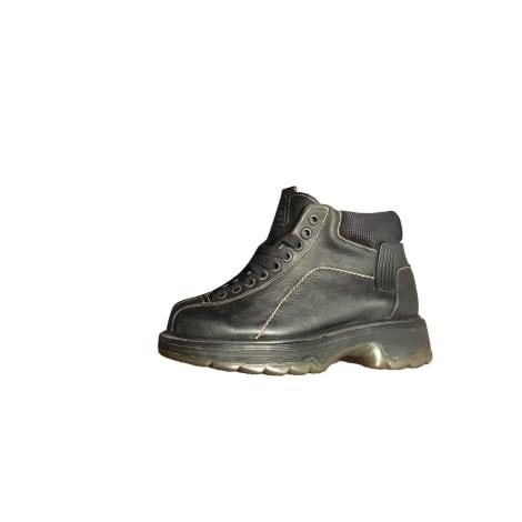 Bottines & low boots à compensés DR. MARTENS Noir