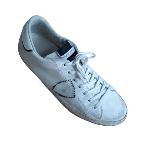 Baskets PHILIPPE MODEL Blanc, blanc cassé, écru