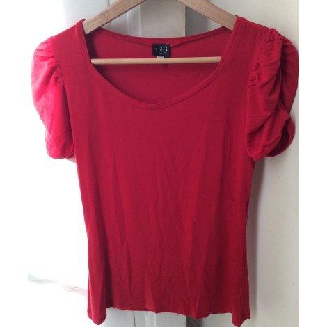 Top, tee-shirt 1.2.3 Rouge, bordeaux