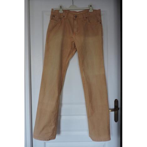 Pantalon droit CHEVIGNON Beige, camel