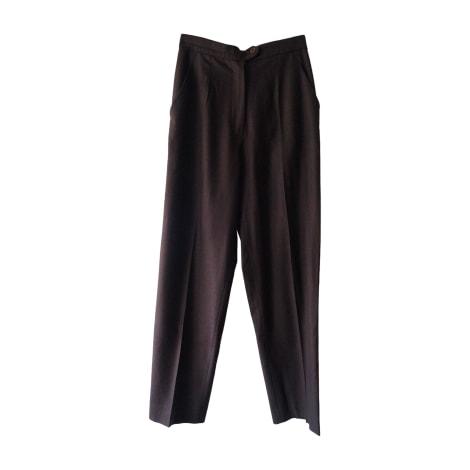 Pantalon droit CARVEN Marron