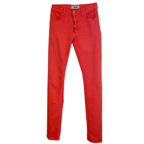 Jeans slim ACNE Orange