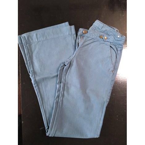 Pantalon évasé MAJE Bleu, bleu marine, bleu turquoise