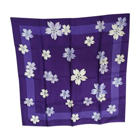 Silk Scarf BULGARI Purple, mauve, lavender