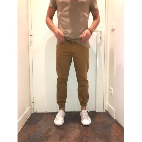 Pantalon slim BERSHKA Moutarde