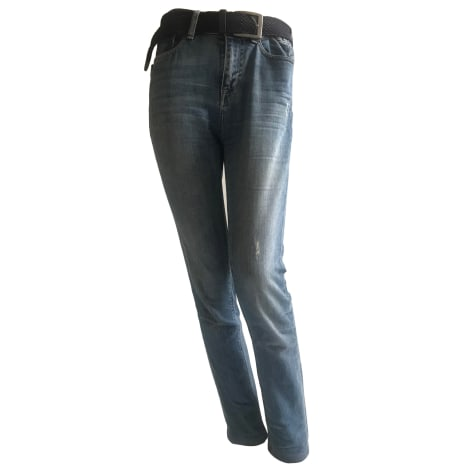 Jeans droit ZADIG & VOLTAIRE Argenté, acier
