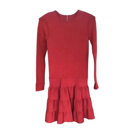 Robe courte BARBARA BUI Rouge, bordeaux