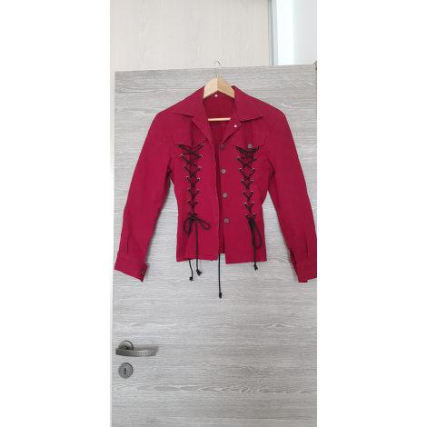 Tailleur jupe MARQUE INCONNUE Rouge, bordeaux