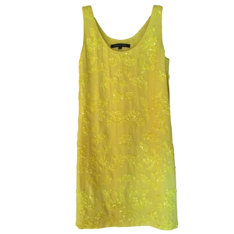 Robe courte FRENCH CONNECTION Jaune