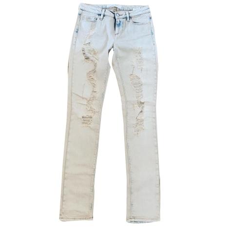 Jeans slim IRO Blanc, blanc cassé, écru