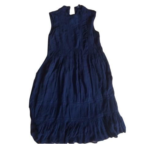 Robe mi-longue BERENICE Bleu, bleu marine, bleu turquoise