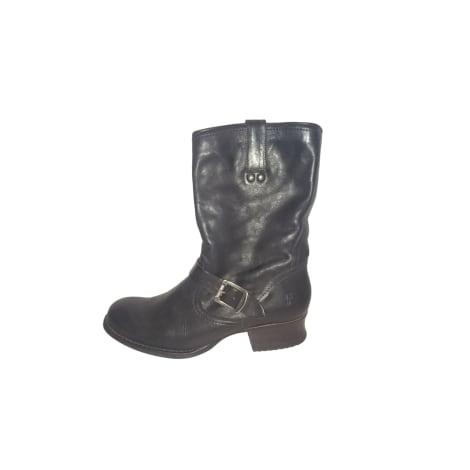 Bottines & low boots motards FRYE Noir