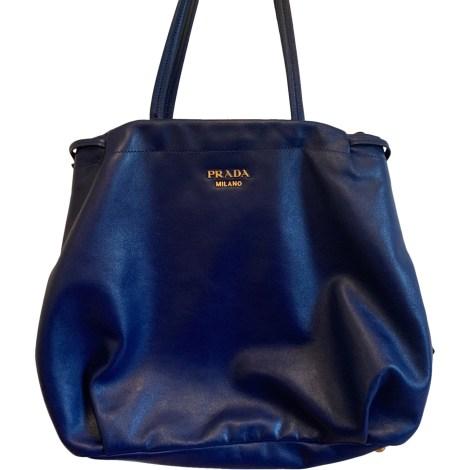 Lederhandtasche PRADA Blau, marineblau, türkisblau