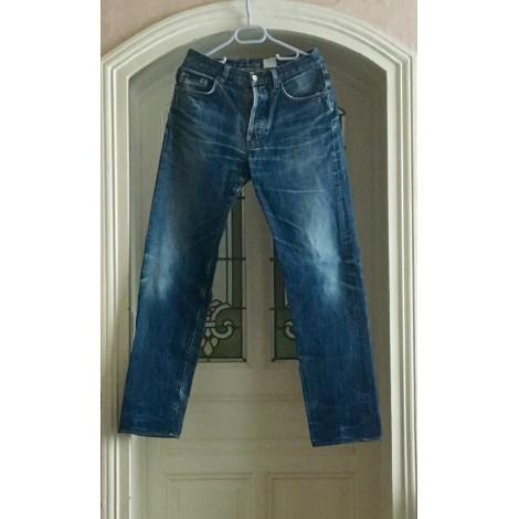 Pantalon droit CALVIN KLEIN Bleu, bleu marine, bleu turquoise