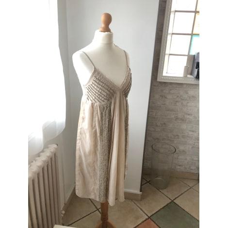 Robe courte MORGAN Beige, camel