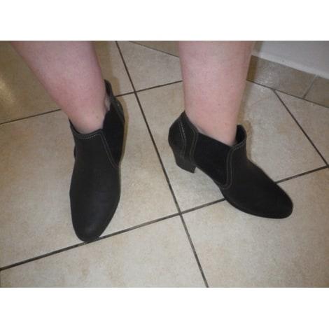 Santiags, bottines, low boots cowboy GRANDS BOULEVARDS Gris, anthracite