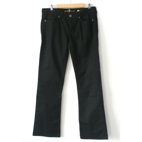 Jeans droit 7 FOR ALL MANKIND Noir