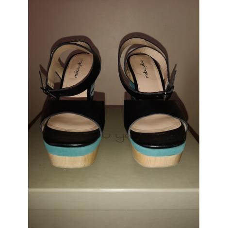 Sandales compensées MELLOW YELLOW Noir