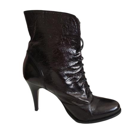 Bottines & low boots à talons GAIA D'ESTE Noir
