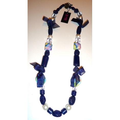 Collier SAVE THE QUEEN Bleu, bleu marine, bleu turquoise