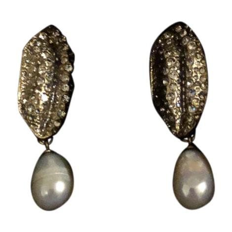Boucles d'oreille GIAMBATTISTA VALLI X H&M Argenté, acier