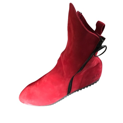 Flat Ankle Boots ARCHE Red, burgundy
