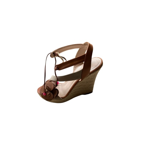 Sandales compensées PATRIZIA PEPE Beige, camel