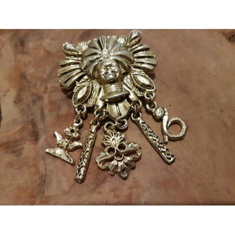Broche VINTAGE Doré, bronze, cuivre