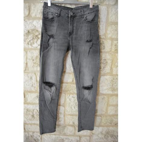 Jeans large, boyfriend H&M Gris, anthracite