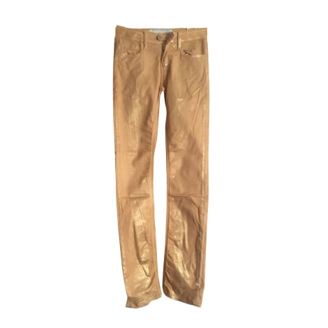 Pantalon slim, cigarette 75 FAUBOURG Doré, bronze, cuivre