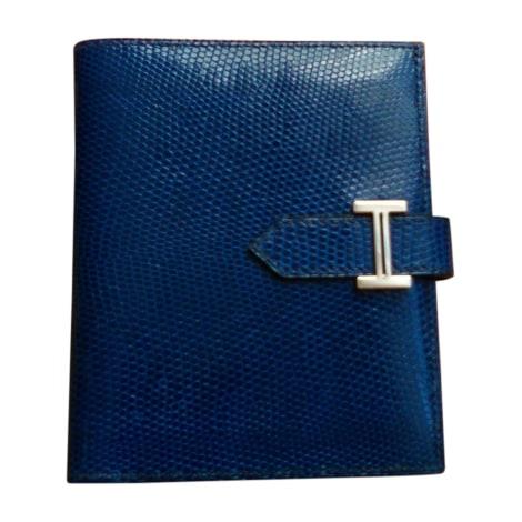 Portefeuille HERMÈS Kelly Bleu, bleu marine, bleu turquoise