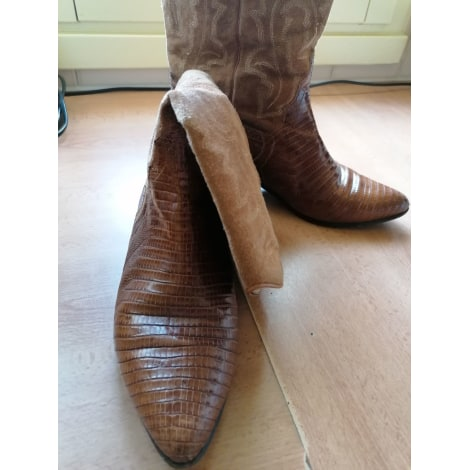 Santiags, bottines, low boots cowboy STEPHANE KÉLIAN Beige, camel