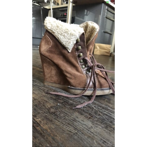 Wedge Ankle Boots STEVE MADDEN Brown