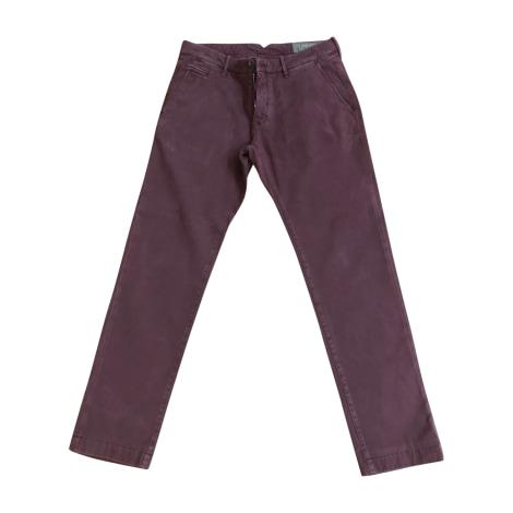 Jeans droit JACOB COHEN Rouge, bordeaux