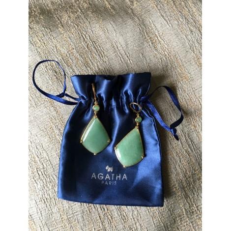 Boucles d'oreilles AGATHA Vert