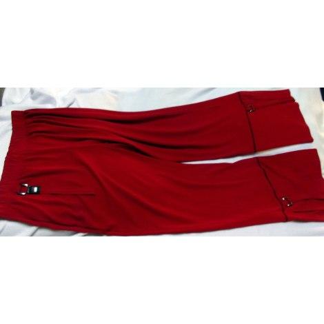 Pantalon droit UMBERTO MONZA Rouge, bordeaux