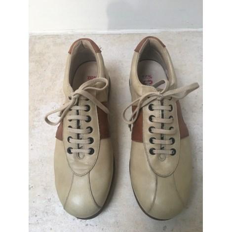 Chaussures à lacets CAMPER Beige, camel