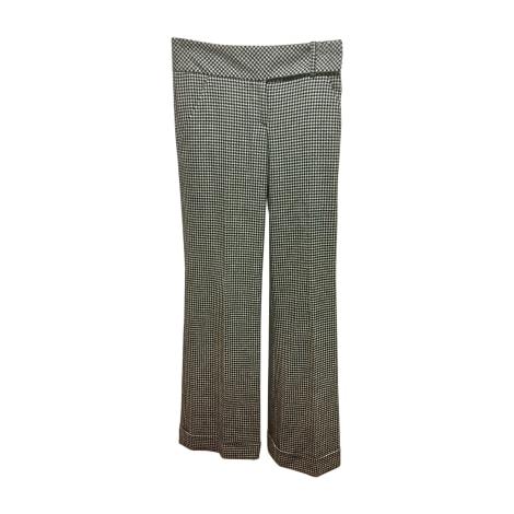 Pantalon droit VALENTINO Black White Houndstooth