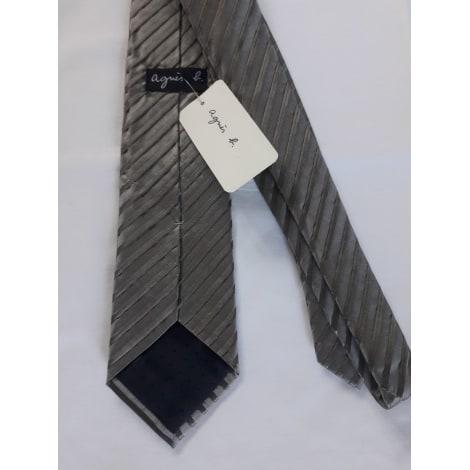 Cravate AGNÈS B. Gris, anthracite